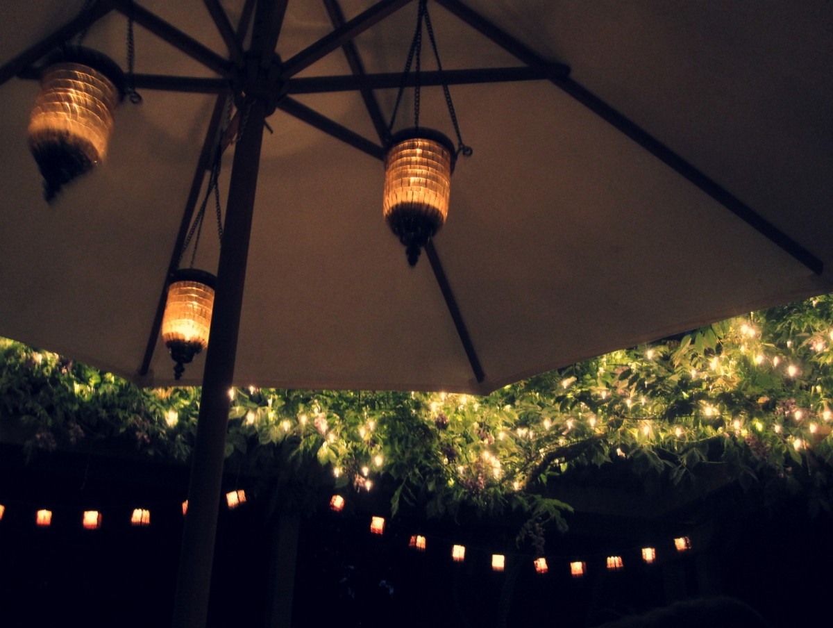 Unique Patio Umbrella Lights