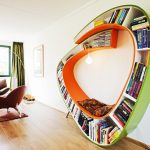 Unique Round Bookcase