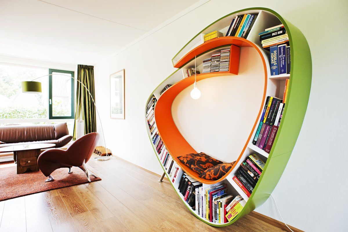 Image of: Unique Round Bookcase