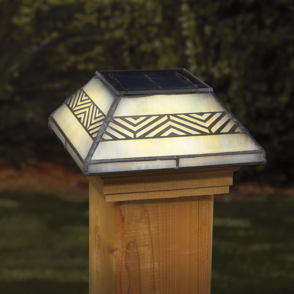 Image of: Unique Solar Deck Post Caps