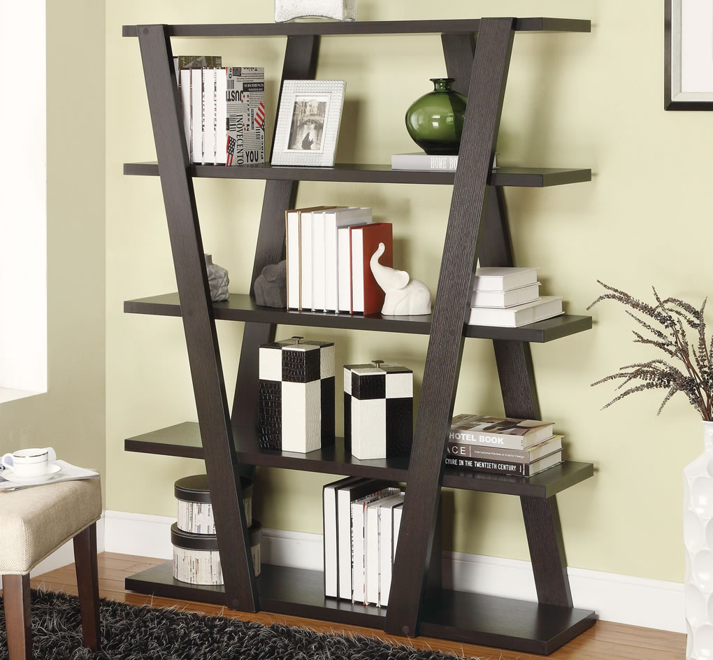 Image of: Unique Wooden Bookcase Plans