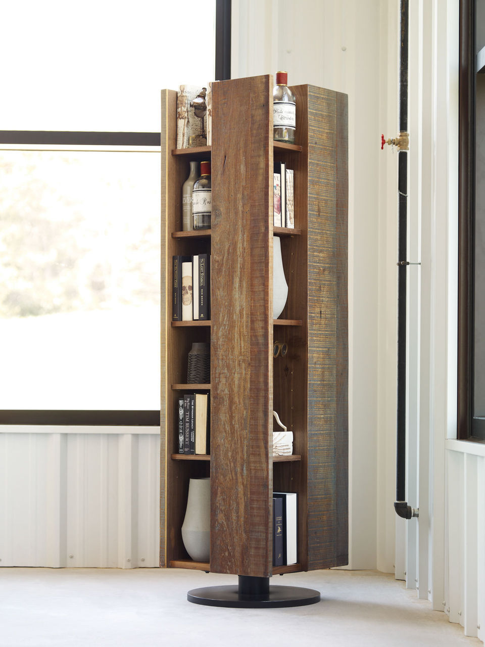 Image of: Unique reclaimed wood bookcase