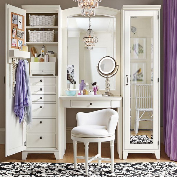 Image of: Vanity Dresser with Mirror Modern