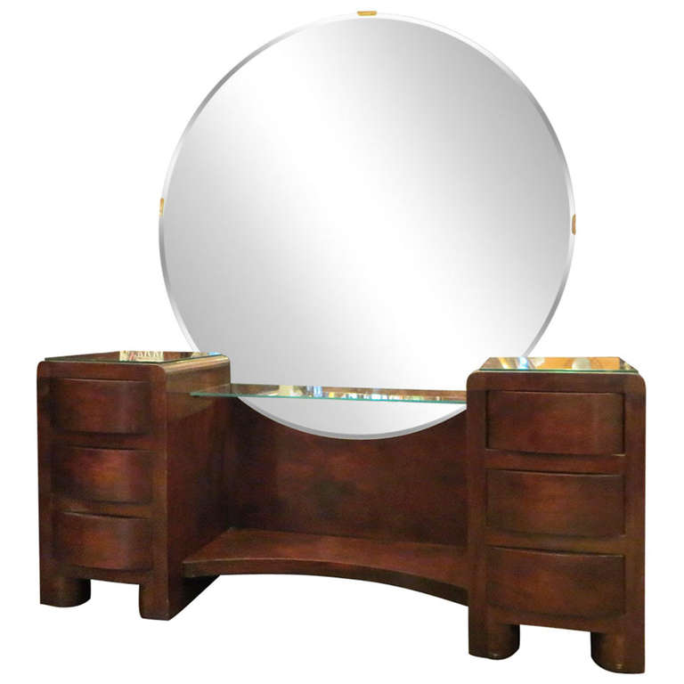 Image of: Vanity Dresser with Mirror Oak