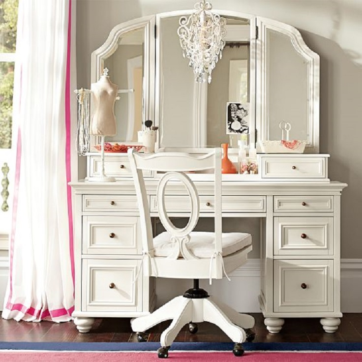 Image of: Vanity Dresser with Mirror White Furniture