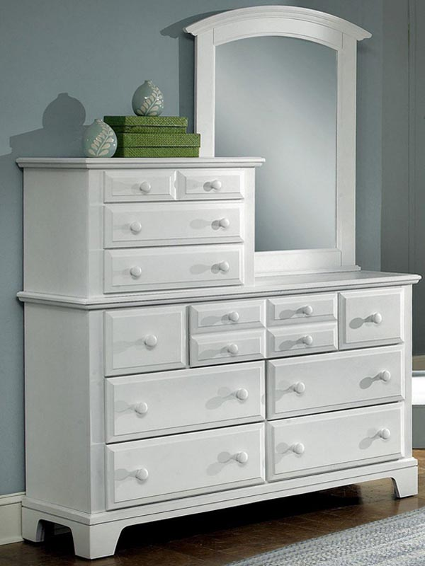Image of: Vanity Dresser with Mirror White