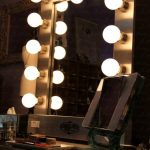 Vanity Makeup Mirror with Light Bulbs Image