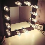 Vanity Makeup Mirror with Light Bulbs Large