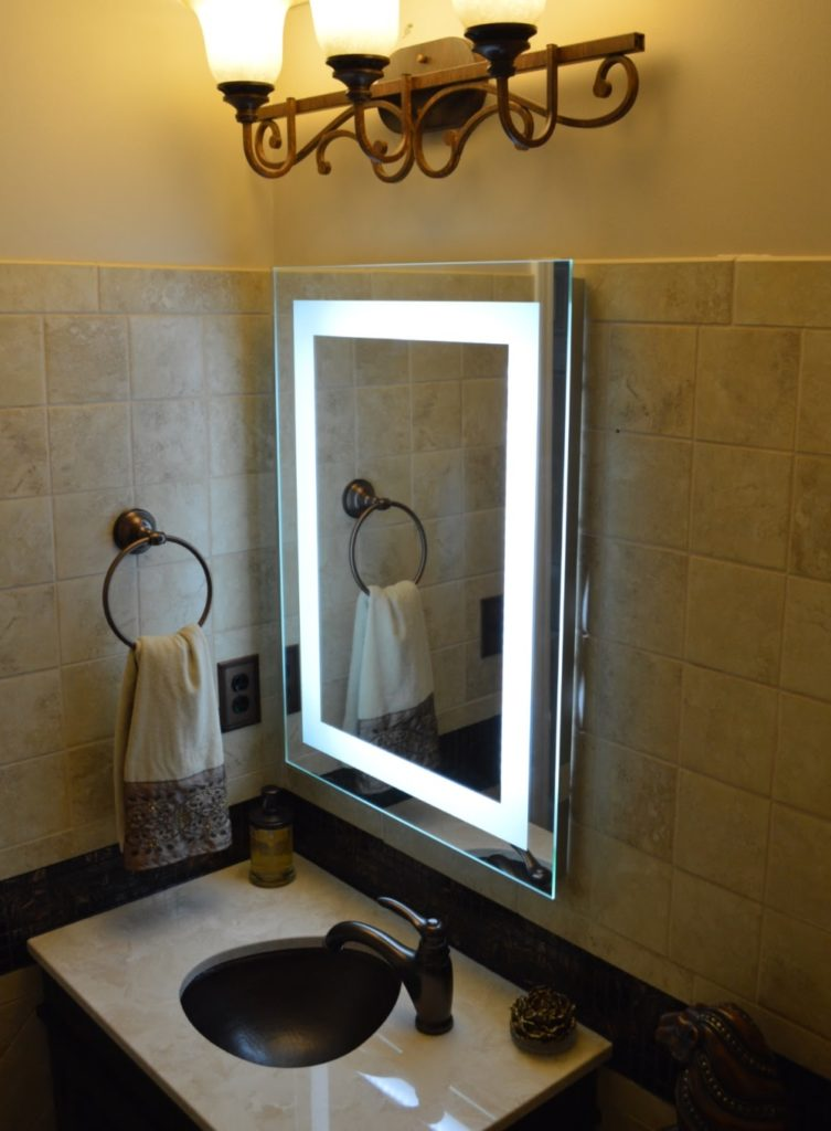 Vanity Makeup Mirror with Light Bulbs Small