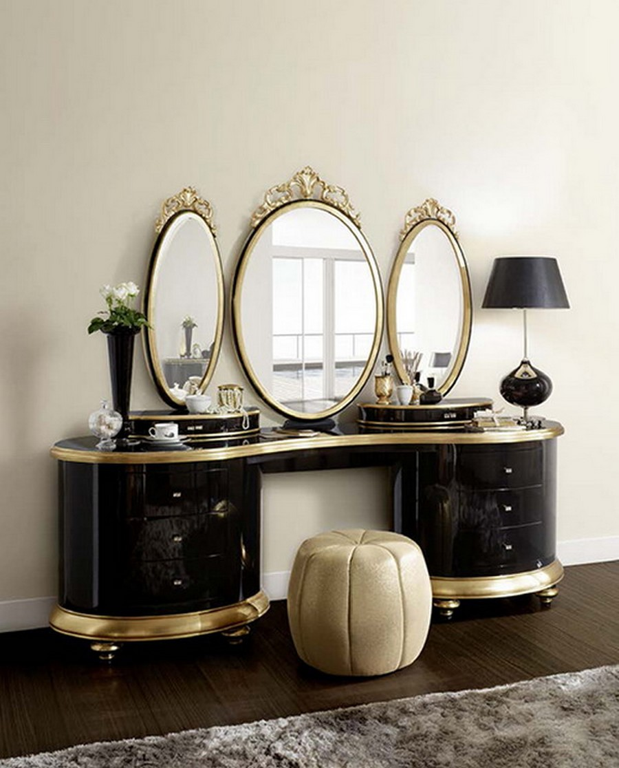 Image of: Vanity Table with Mirror Oval