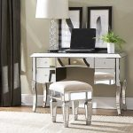 Vanity Table with Mirror and Stool