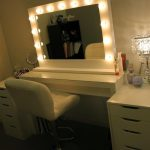 Vanity with Lighted Mirror and Bench