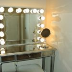 Vanity with Lighted Mirror and Drawers