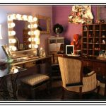 Vanity with Lighted Mirror for Bedroom