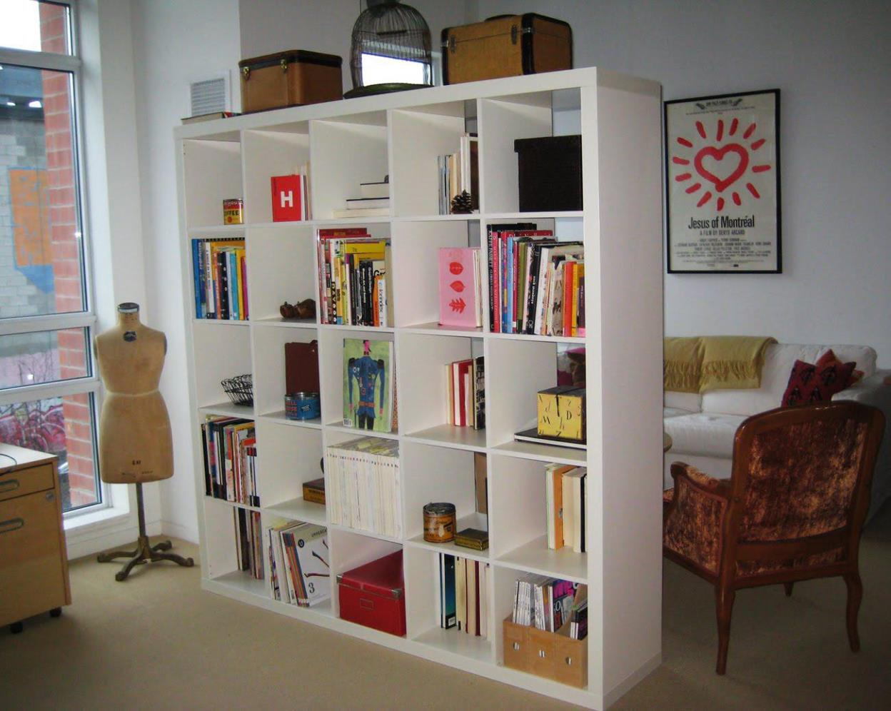 Image of: Vertical Cube Bookcase