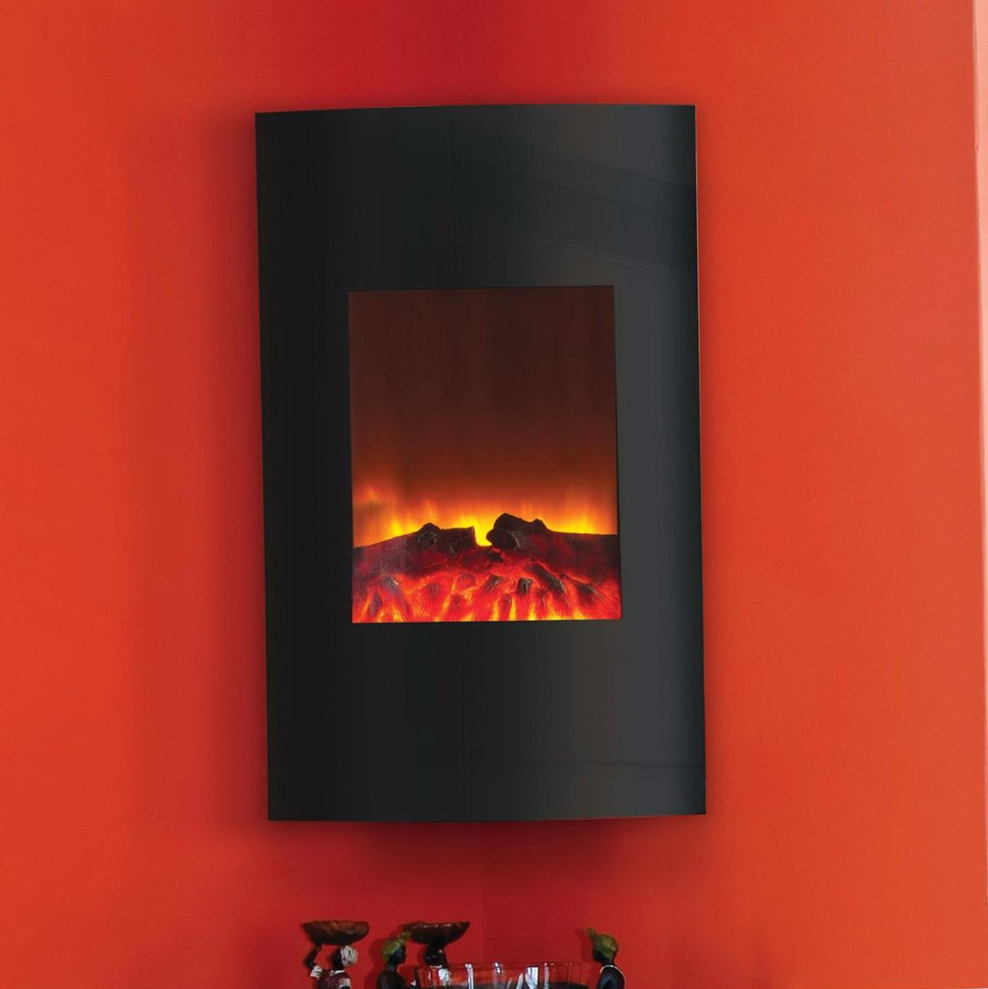 Image of: Vertical Wall Mounted Electric Fireplace