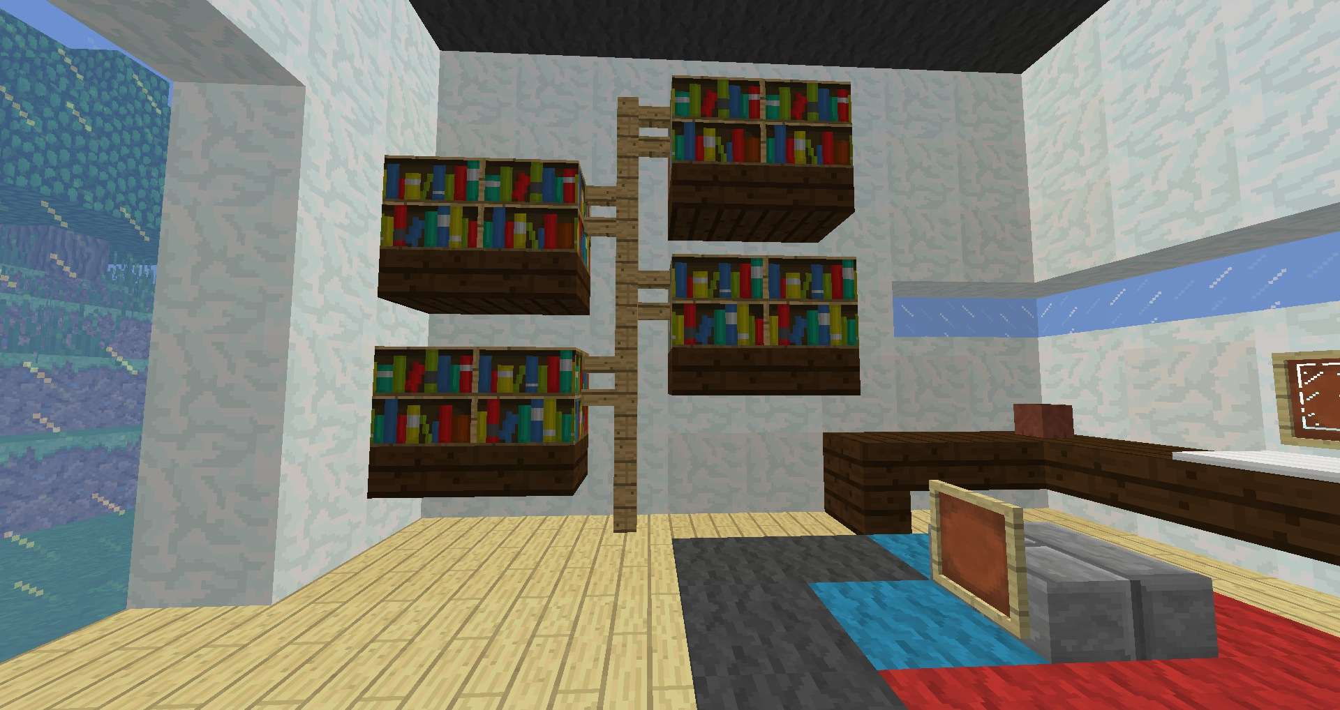 Image of: Wall Bookcase Minecraft