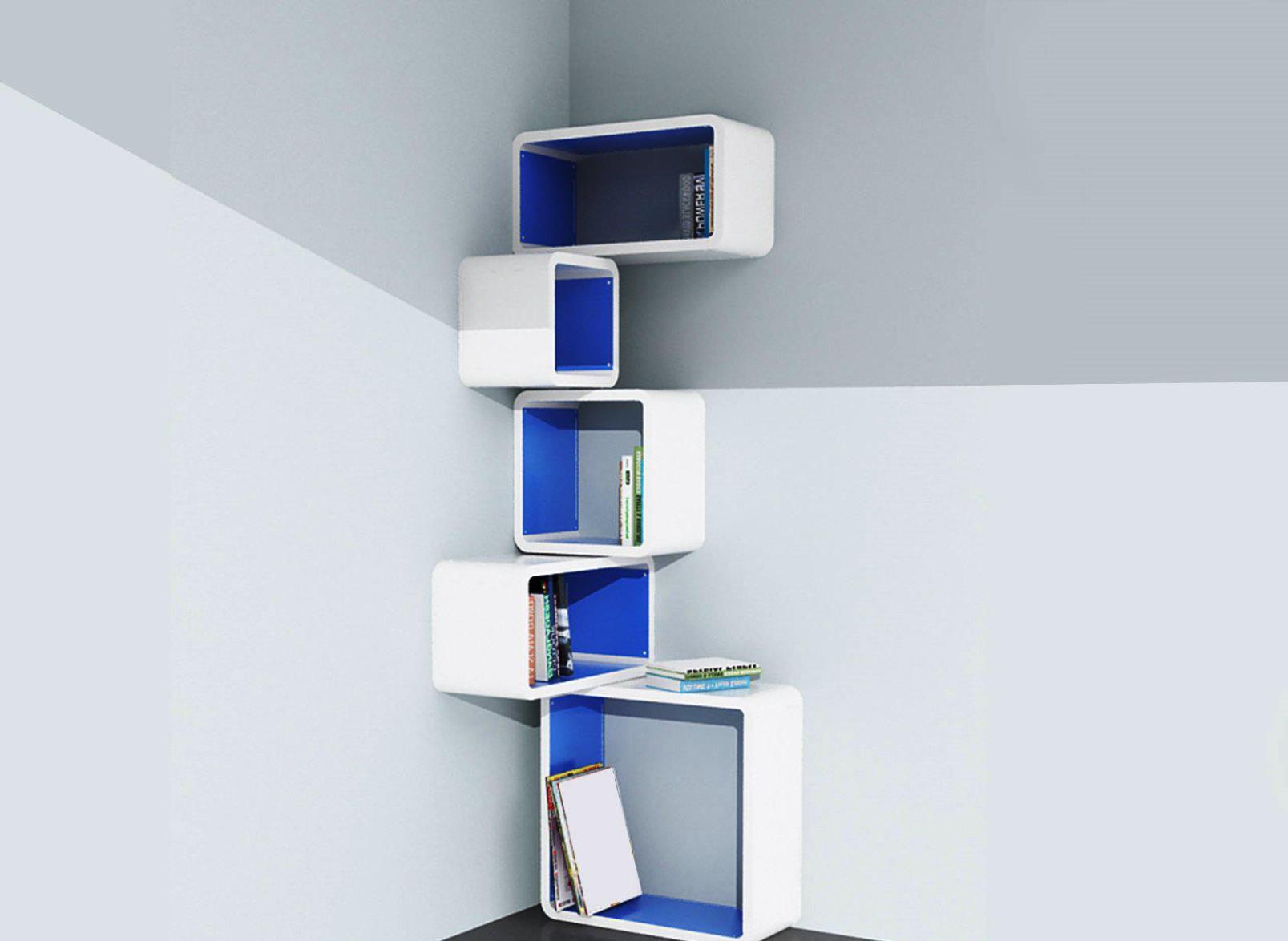 Image of: Wall Cube Bookcase
