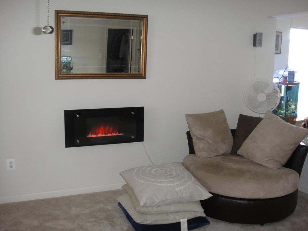 Image of: Wall Mounted Electric Fireplace Heater