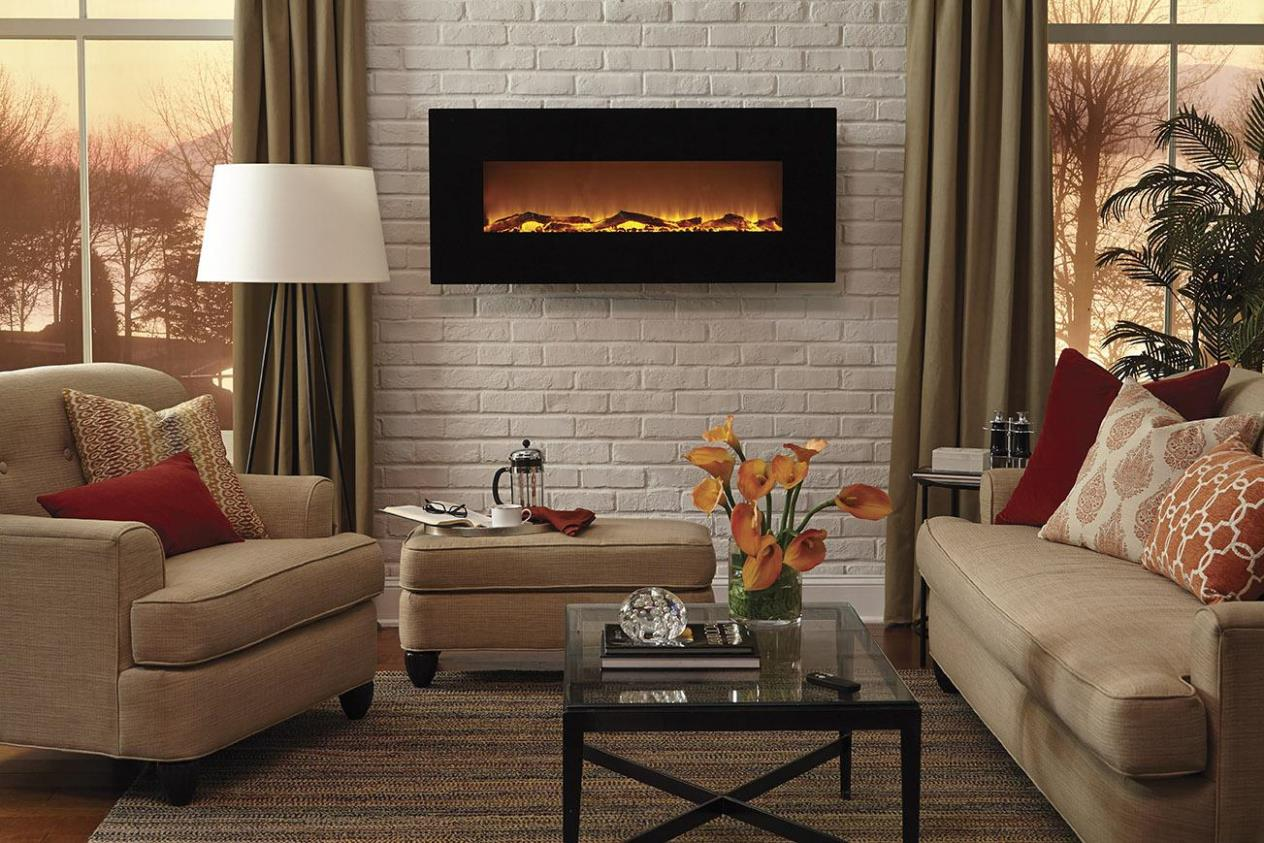 Image of: Wall Mounted Electric Fireplace Ideas