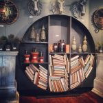Wall Round Bookcase