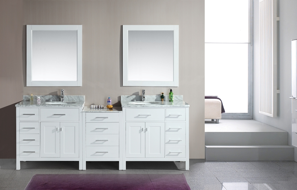 Image of: White Bathroom Mirror Cabinet
