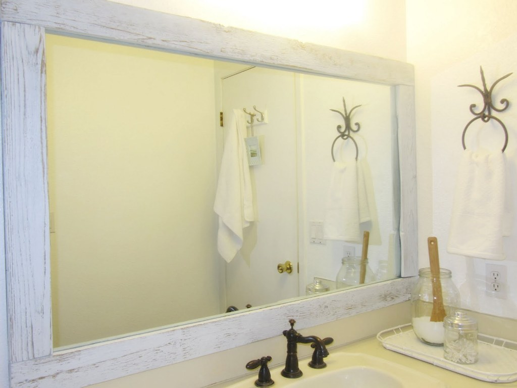 Image of: White Bathroom Mirror Repair
