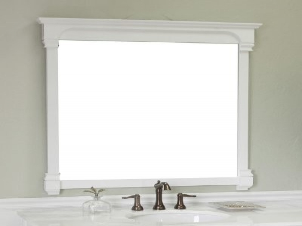 Image of: White Bathroom Mirror and Light