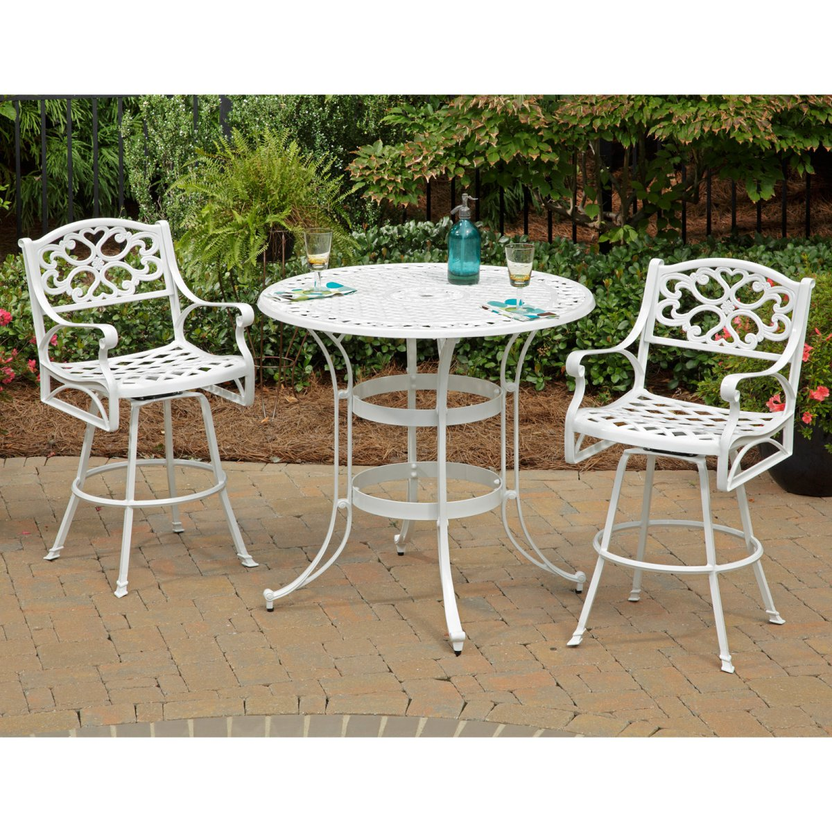 White Bistro Patio Set