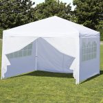 White Canopy Tent with Sides