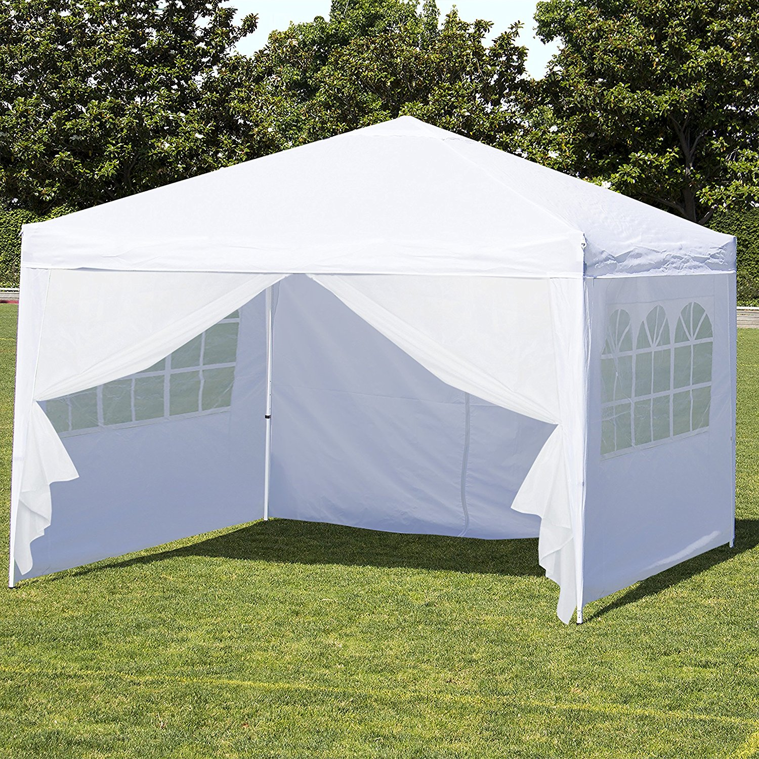 Image of: White Canopy Tent with Sides