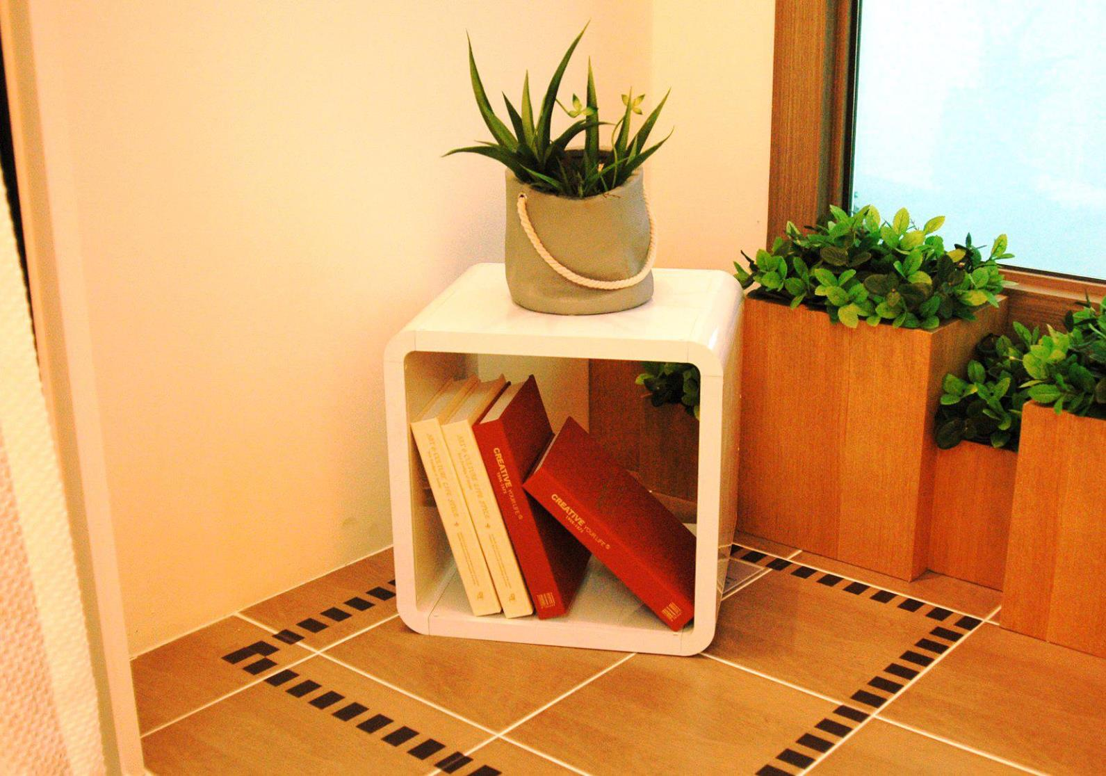 Image of: White Cube Bookcase