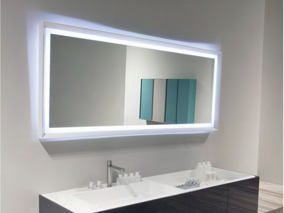 Image of: White Frame Mirror Design Ideas