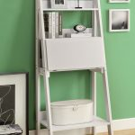 White Leaning Bookcase Ladder