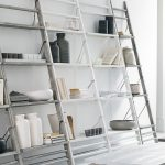 White Leaning Bookcase Style
