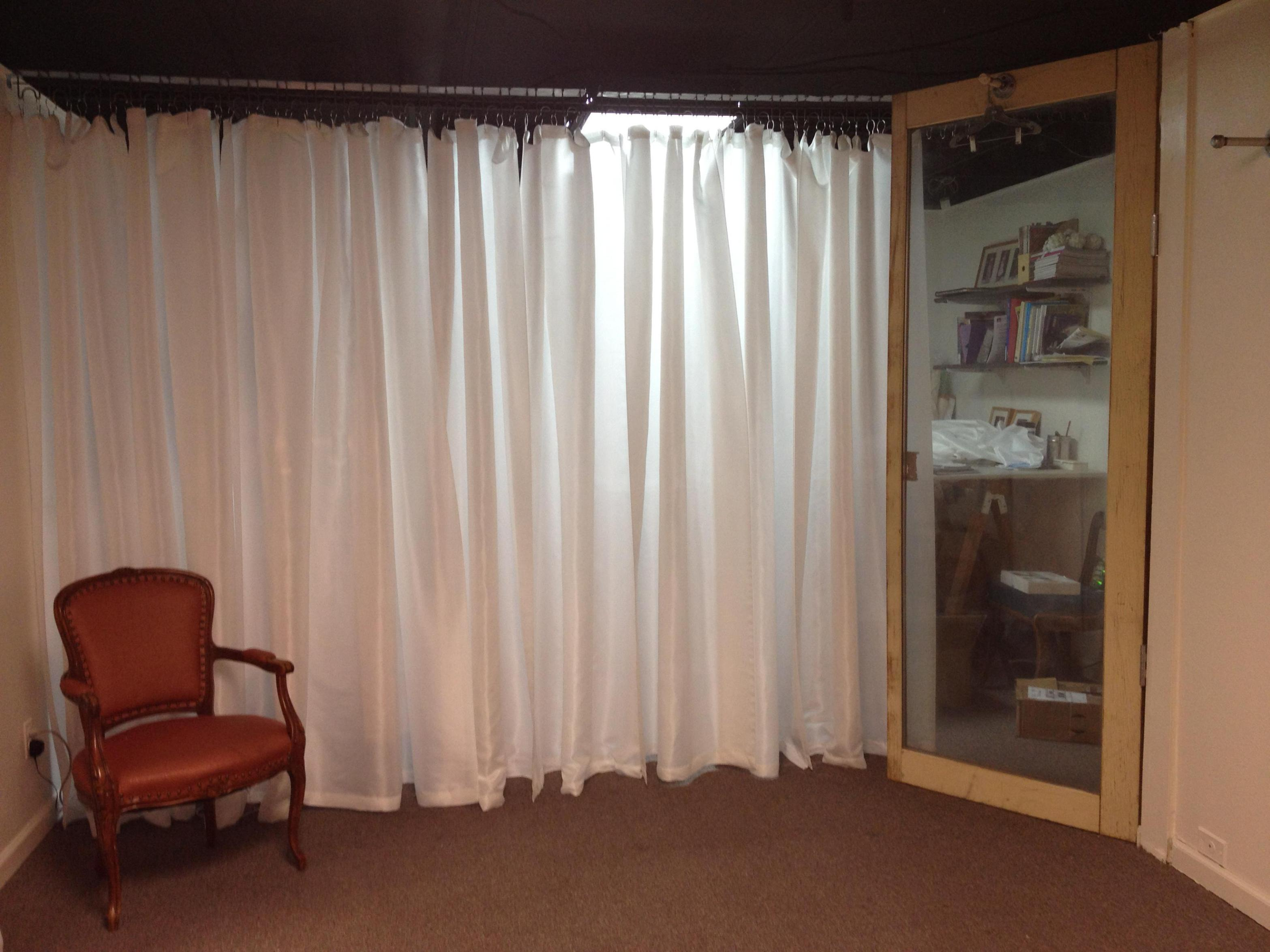 Image of: White Silk Curtains