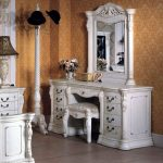 White Small Dresser with Mirror