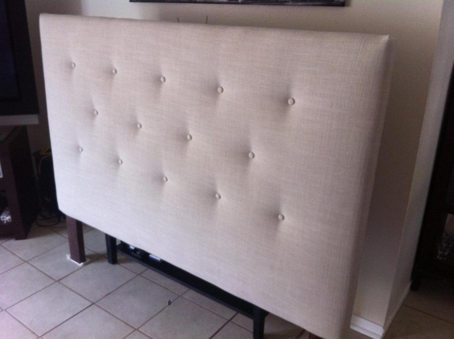 Image of: White Tufted Headboard King