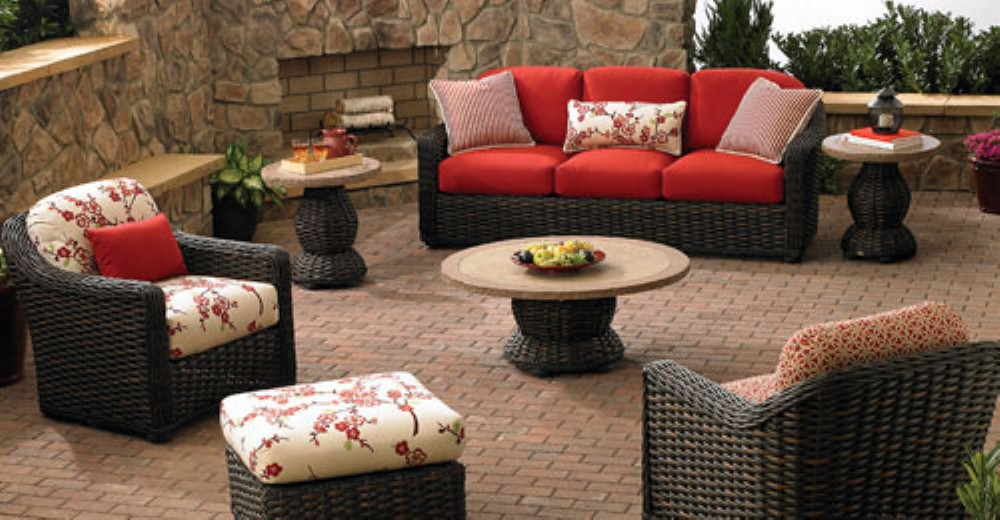 Image of: Wicker Patio Set Cushions