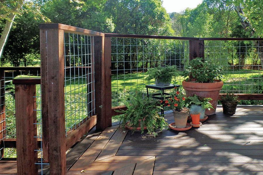 Image of: Wire Mesh Deck Railing Home
