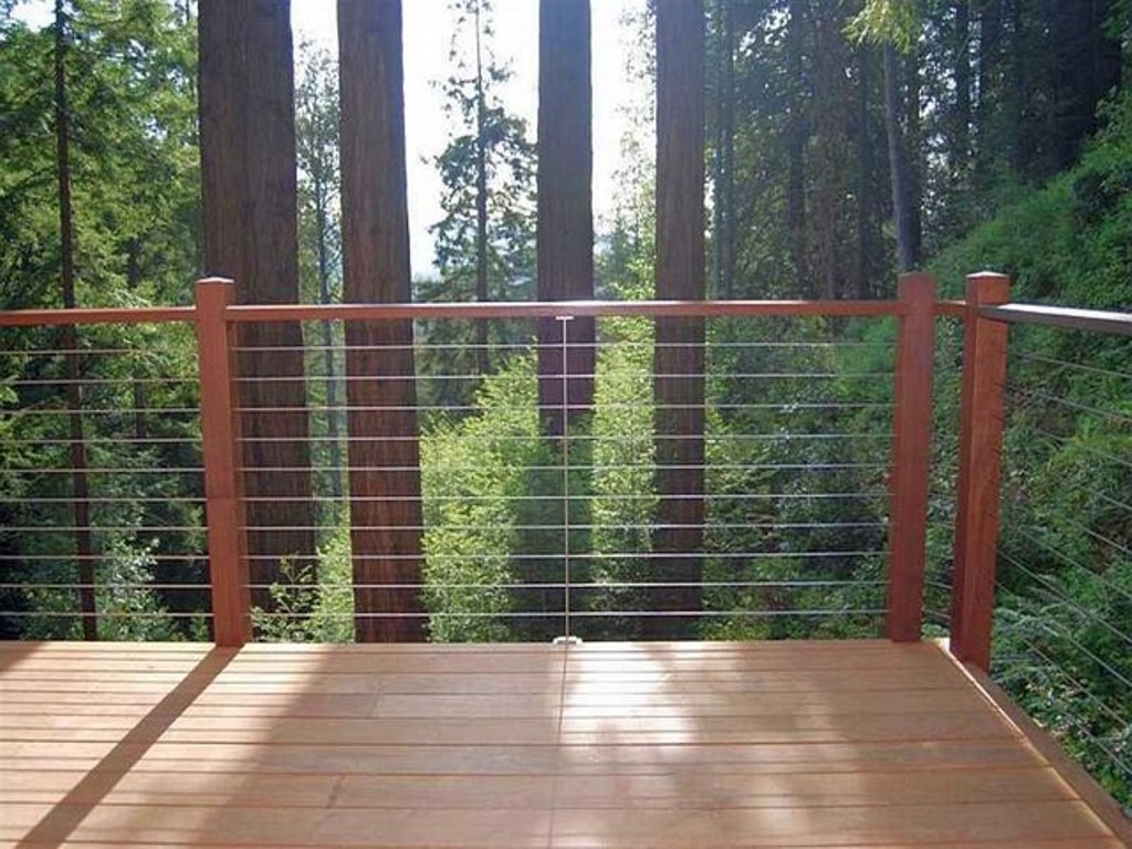 Image of: Wire Mesh Deck Railing Modern