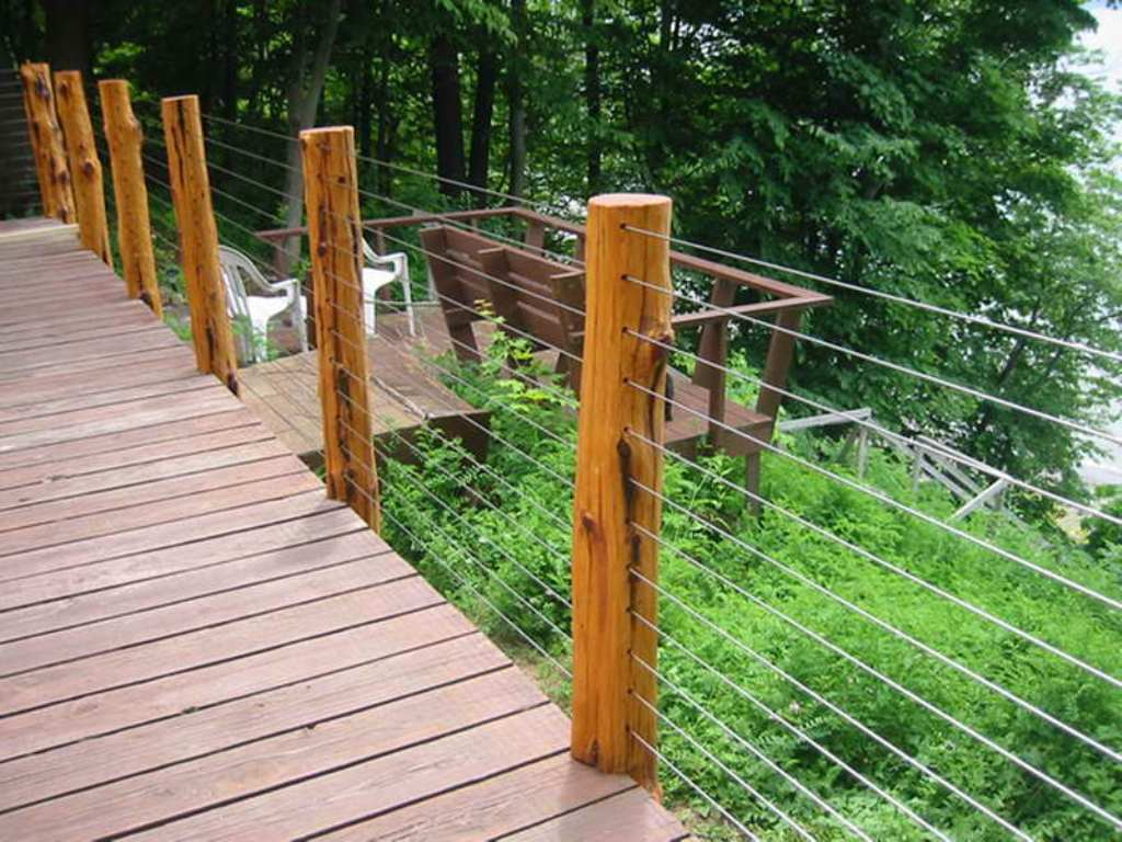 Image of: Wire Mesh Deck Railing