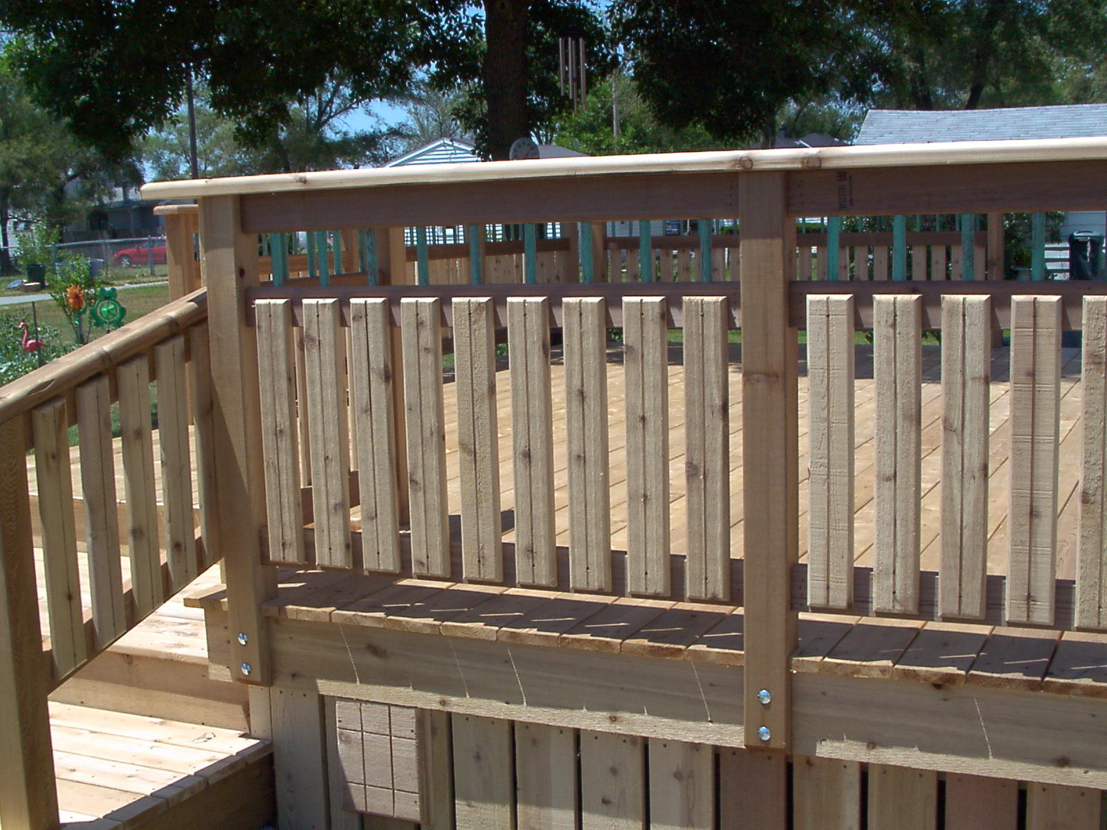 Wood Deck Rail Ideas