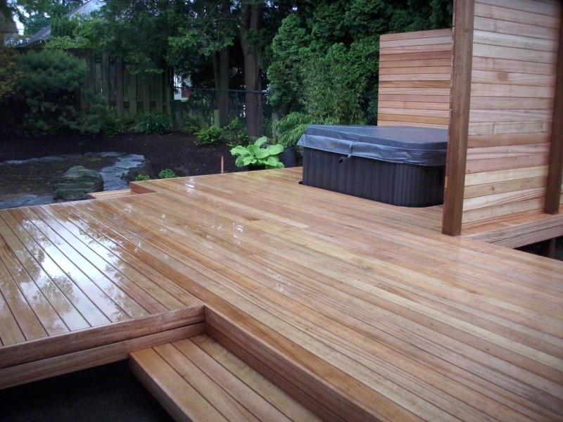 Wood Mahogany Decking