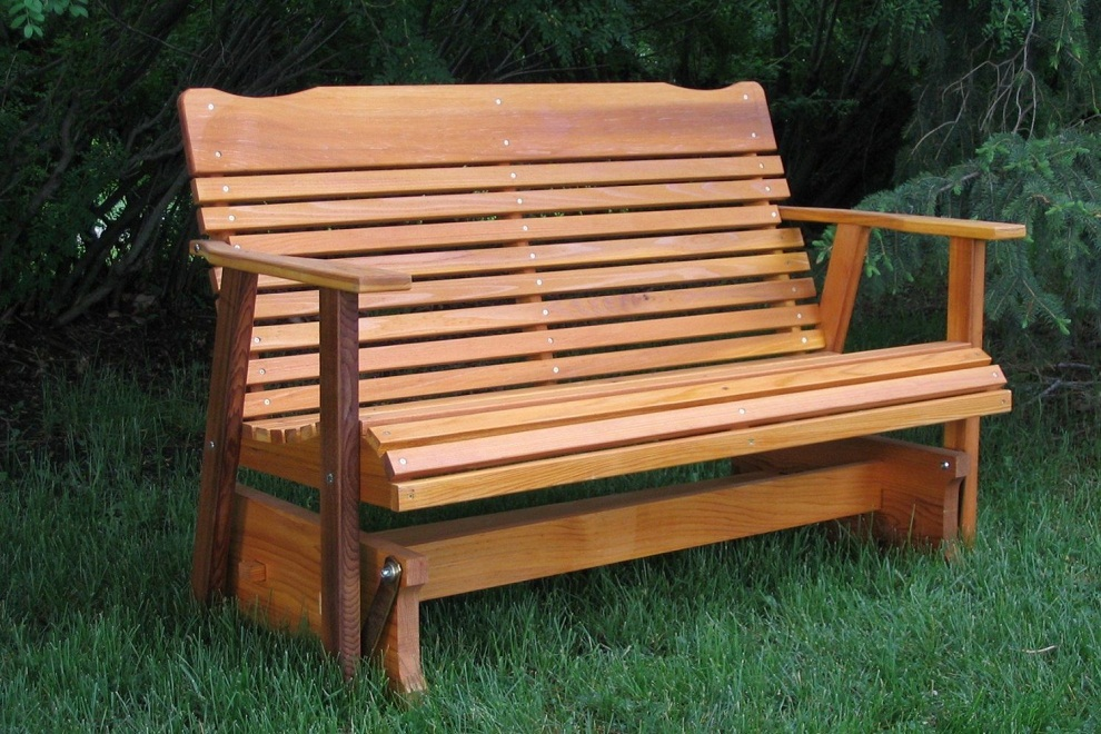 Wooden Patio Glider
