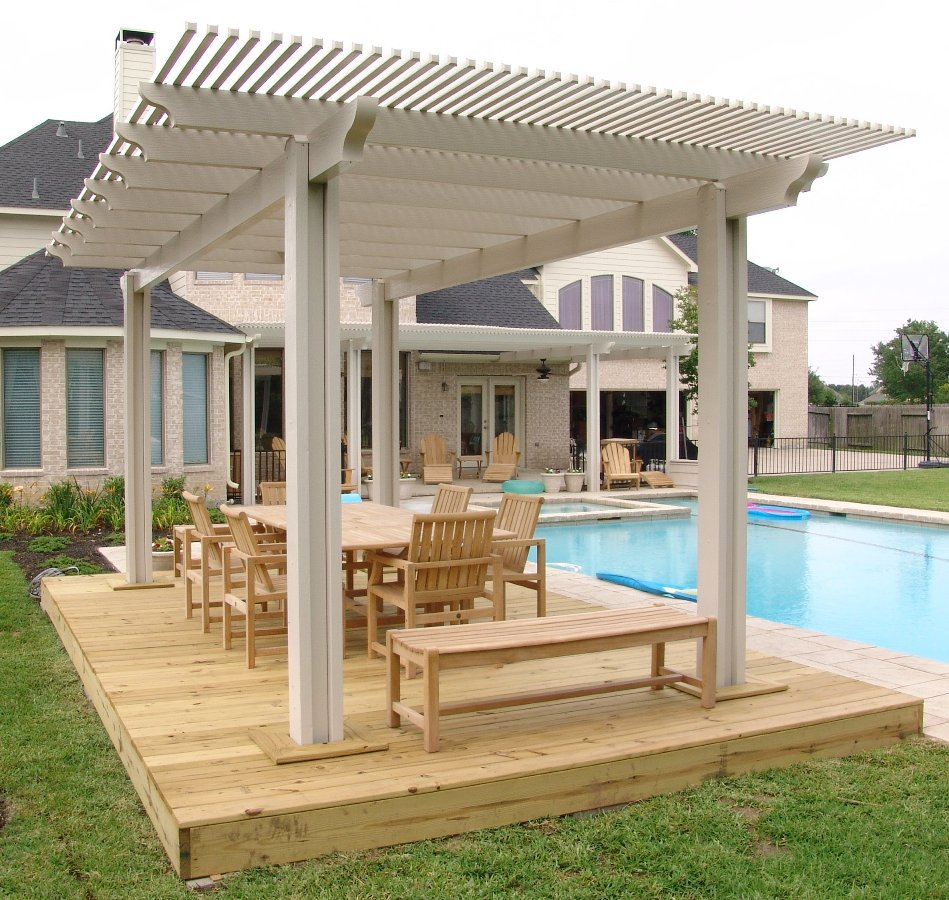Image of: Wooden Portable Gazebo for Deck
