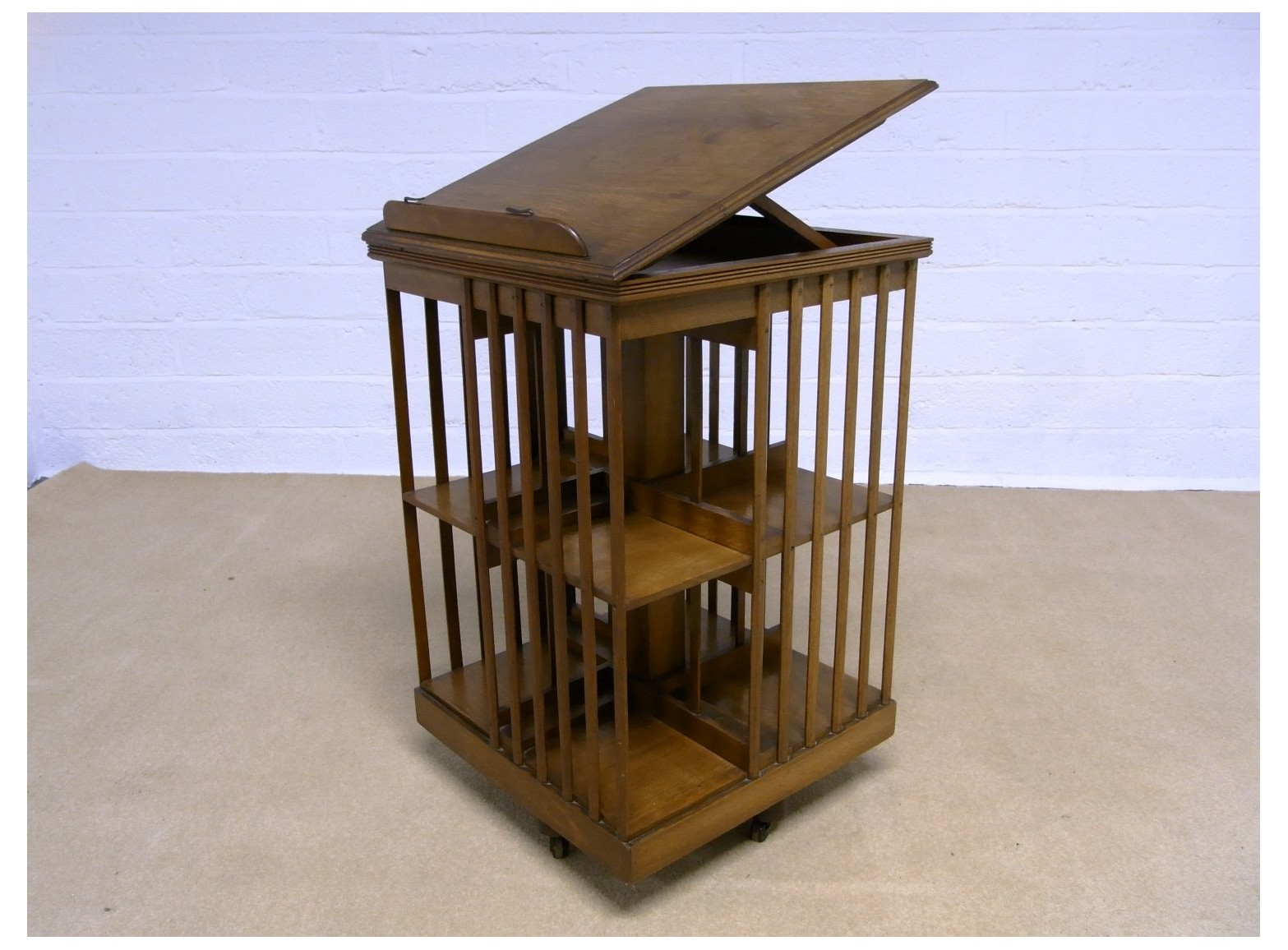 Image of: Wooden Revolving Bookcase