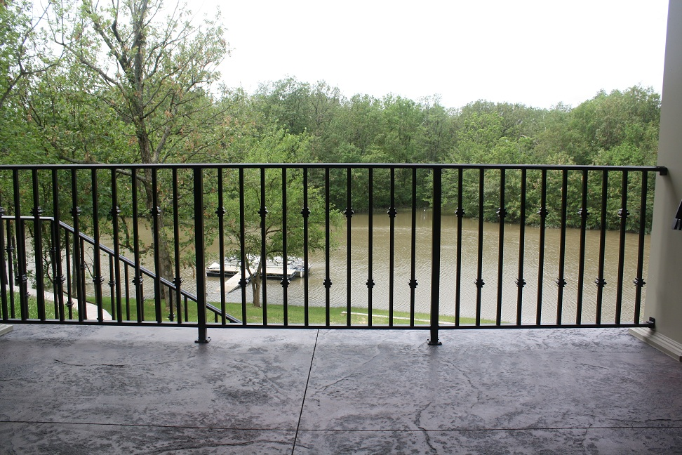 Image of: Wrought Iron Deck Railing Image