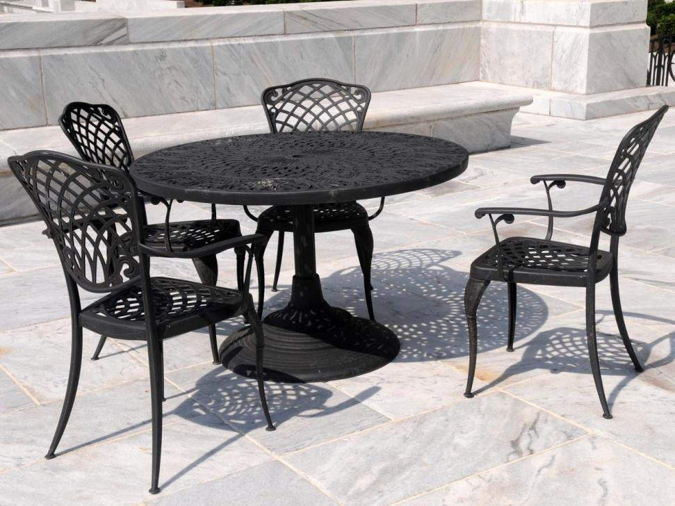 Wrought Iron Patio Chairs That Slightly Rock Color Black