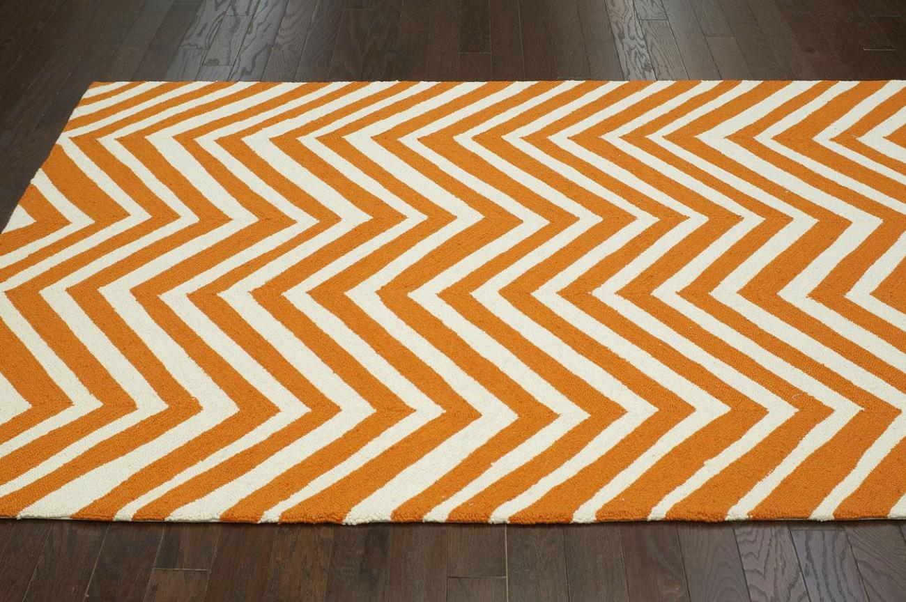 Image of: Yellow Chevron Area Rug